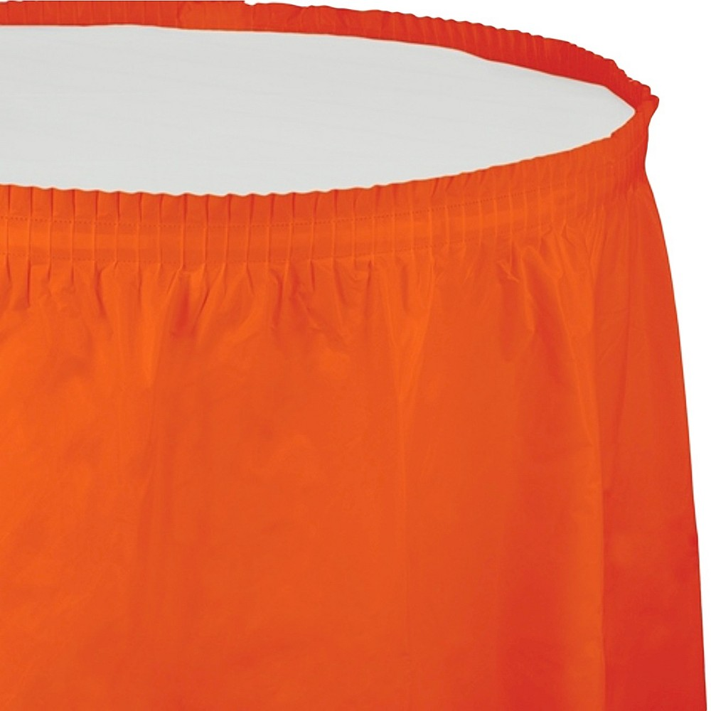 Sunkissed Orange Table Skirt