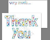 1100 Pack of Thank You Cards Postcards Notes Envelopes A6 Thankyou Floral Multicoloured A6 Flowers