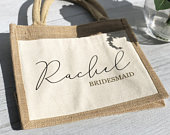 Tote Bag for Bridesmaid Gift, Bridesmaid Tote, Personalize Tote Bag, Personalised, Personalised Bridesmaid, Wedding Thank you Gift, Role