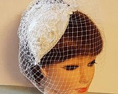 Bridal crystal hat birdcage veil 2Pc, bridal accessory, Crystal Pearls hat cage veil, Bridal fascinator hat, wedding Hat fascinator veil