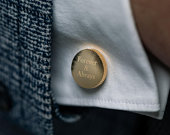 Gifts for Men Personalized Cufflinks, Gifts for Him, Groomsmen Gifts
