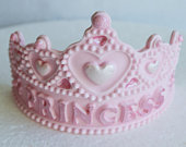 Edible princess tiara cake topper. Edible princess crown cake decoration
