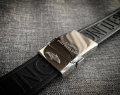24mm Breitling Black Rubber Strap Band Bracelet With deployment double push button stainless steel Clasp strap on sale