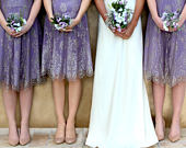Bespoke Vintage Style Bridesmaid Dresses in Orchid