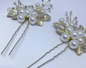 Gold Pearl and crystal silver hair vine pin for bridal hair style accessories hair comb pin tiara vine crown head band flower floral band
