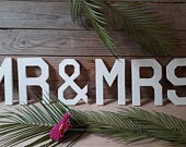 Wedding decorations/ Mr Mrs letters/ wooden letters / table decor/ weddings / signs / wedding party / beach wedding / rustic wedding/decor