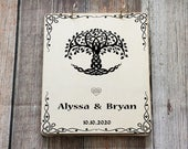 Celtic Tree of Life Guestbook, Celtic Guest Book, Personalized Wedding Guest book, Celtic wedding Advice Book, Vow Book, Anniversary Gift