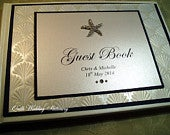Personalised Wedding Guest Book. Bespoke. Different Colour Options Available