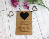 Wedding Countdown Plaque Personalised Chalkboard Sign Custom Sign Engraved with names Engagement Gift