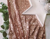 Christmas Sparkly Gold Sequin Table Runner, Sequin Tablecloth, Sequin Linen, Sequin Gold Table Runner, Christmas Table Runner