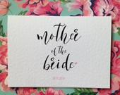 Mother of the Bride/ Groom/ Father of The Bride/ Groom Card