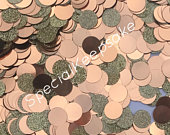 Rose Gold Glitter Mixed Table Confetti Circles Metallic Bride Groom Mr Mrs Wedding Guests Photo Decoration 50 Gram Hen Do Engagement Party