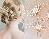 Pearls Wedding Hair Vintage Crystal Bridal Accessories Hair Pins Bridesmaid Clips Side Comb