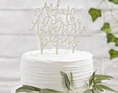 And So The Adventure Begins Wedding Wooden Cake Topper. Party Decoration.Just Married.Wedding Cake Decoration.Wedding Party.Engagement Party