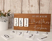 Rustic Inspired Engagement Gift, Theme Wedding Countdown Sign, Soon to Be Plaque, Big Day Countdown Wooden Block
