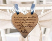 Personalised Wedding Memorial Sign Personalized Reserved Seat Plaque In Loving Memory Family Rustic Engraved Wooden Hanging Heart