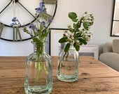 Vintage Glass Bottle Vase (2 Sizes) Wedding Centrepieces, Wedding Vases, Rustic, Vintage, Wedding Styling Decorations