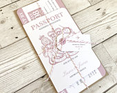 Passport Wedding Invitation, Boarding Pass Invite, Wedding Abroad, Destination Wedding, Travel Wedding, Plane Ticket Invite SAMPLE