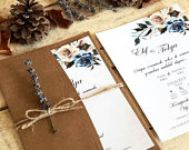 Rustic Wedding Invitations, Burlap, Kraft, Wood, Country Wedding Invitation, Affordable, Woodsy, Lights, Summer, FREE Rsvp, Wedding Invite
