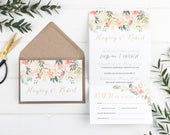 Wedding Invitation Rose Luxe Floral ZFold