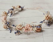 English Meadow Wedding Bridal / Bridesmaid / Groom Hair Rustic Bohemian Dried Flower Crown, Comb and Boutonniere selection