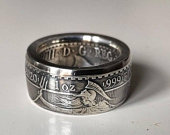 Coin Ring Britannia 1oz .999 Silver Ring Mens ring. Wedding rings for men. Unique gift