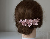 Blush pink wedding Hair hydrangea Hydrangea hair pin Wedding hairpiece Bridesmaid headpiece Bridal flower hairpiece Bridesmaid pink flower
