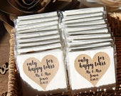 Happy Tears Wedding Tissues Personalised Wedding Favour Rustic Design Wedding Favour Ideas