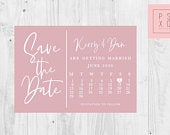 Save The Date Magnets, Calligraphy Calendar Design, Any Colour, Simple Modern Design, Modern Wedding, Save The Date, Save The Date Magnet