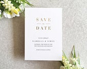 Isabella Foil Ink Save the Date Gold Foil Save the Date Save the Date Postcard Wedding Save the Date Invitation Rose Gold Wedding