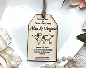 Wooden magnet save the date, Destination wedding, Wedding abroad, Beach wedding, Change the date
