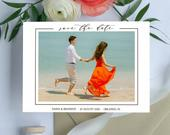 Calligraphy Printable Save the Date with Photo, DIY Instant Download, Photo Save the Date Digital Download, Print at home