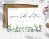 Eucalyptus Save the Date, Save the Date Cards, Simple Save the Date, Save the Date Postcards, Wedding Announcement 009