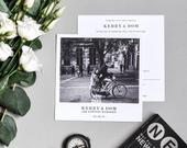 Polaroid Wedding Invitation Photo Wedding Invitation Monochrome Custom Save the Date cards Wedding Thank You Postcards
