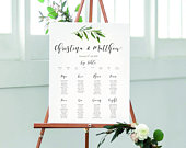 Personalised Christina botanical Wedding Table Seating Plan A1 A2 A3 unframed FREE standard POSTAGE