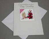 New Quality Embroidered Ruby Wedding Card Handmade FREE UK POSTAGE