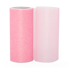 Pink Sparkling Tulle Roll - 6 X 25yd - Fabric - Width: 6 by Paper Mart