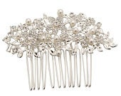 Vintage Chic Pearl Comb, Available in Silver or Gold, Bridal Accessories, Bridal Hair, Bridesmaid Hair, Vintage Pearl Hair Comb