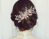 Crystal Extravagance Hair Comb, Available in Silver, Rose Gold or Gold, Bridal Accessories, Bridal Hair, Bridesmaid Hair, Bridal Comb
