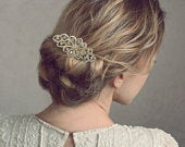 Crystal Swirl Hair Comb, Available in Silver or Gold, Bridal Accessories, Bridal Hair, Bridesmaid Hair, Crystal Hair Comb