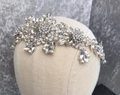 Statement Crystal bridal headpiece Wedding headband Bridal tiara silver crystal headband Diamante Wedding tiara Hair Accessories