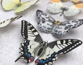 Handmade silk butterfly hair clips NEW COLOURS added for 2020