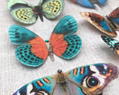 Silk butterfly hair clips with Swarovski crystals. The perfect summer accessory!