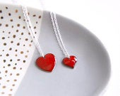 Mummy Me matching Heart Necklaces Mother / Daughter Valentines gift Pendant for Mum and Child Girls necklace