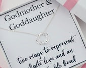 Godmother necklace jewelry gift from goddaughter, mothers day gift, goddaughter necklace jewelry gift from godmother,sterling silver