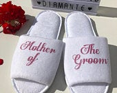 Mother of the Groom personalised slippers, Mother of the bride spa slippers, Bridesmaid personalised spa day slippers, Spa day wedding gift