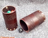 Dice Box made of two interlocking Dice Cups with engraved Celtic Bands.