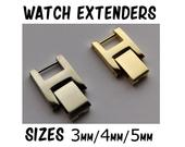 Watch Strap Extender 3mm / 4mm / 5mm for Wrist Watch Bracelet Extenders Band Clasp with Fold Over Link Clasp
