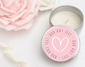 Set of 10 candle personalised Wedding Favours Soy Favor Candles Personalised Wedding Favour, Tin 50ml. Come with organza bags