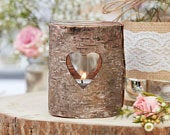 Wooden Heart Tealight Candle Holders Rustic Wedding Decorations Country Wedding Decor Wedding Centrepieces